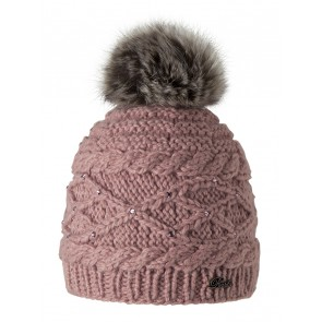 Claire Beanie in Dusty Pink