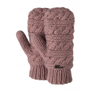 Claire Mittens in Dusty Pink