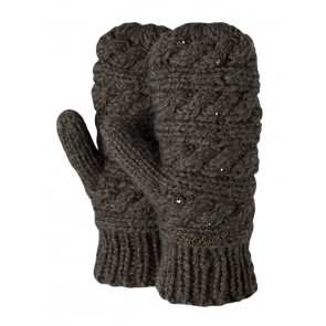 Claire Mittens in Heather Brown