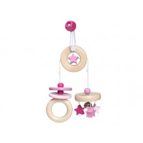 Wooden Pink Mini Trapeze 'Flying Stars'