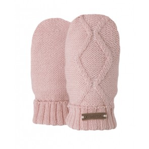 Molly Inka Mittens in Powder Pink