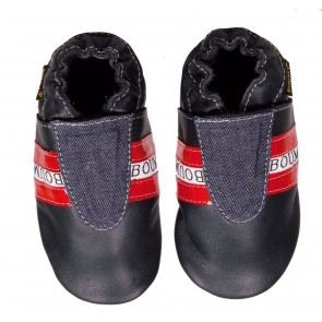 Boumy Baby Shoes Track & Red Stripe