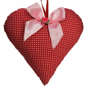 Decorative Red Heart with White Dots