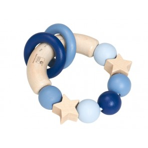 Wooden Blue Rattle 'Catch the Stars'