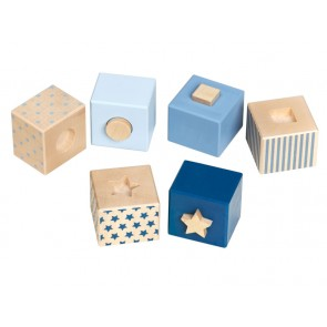 Wooden Blue Cubes  'Stacking Stars'