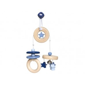 Wooden Blue Mini Trapeze 'Flying Stars'