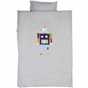 Single Bed Duvet Set Robot