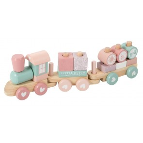 Wooden Toy Train in Adventure Pink