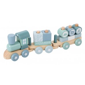 Wooden Toy Train in Adventure Blue