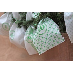 Advent Calendar Gift Bags in Green