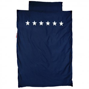 Blue Single Bed Duvet Set Stars