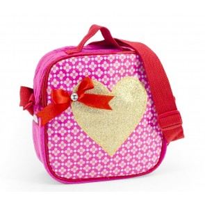 Flowery Bag with Golden Heart