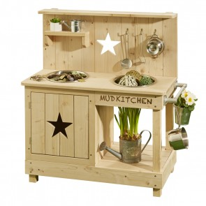 Mud Kitchen 'Adventurer Star' in Natural