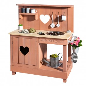 Mud Kitchen 'Adventurer Heart' in Blushpink