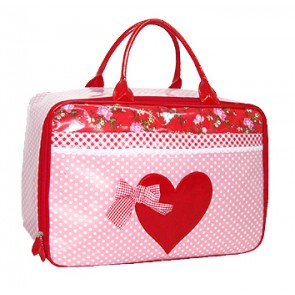 Trendy Pink & Red Weekend Bag