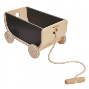 Plan Toys Pull Along Wagon - Black