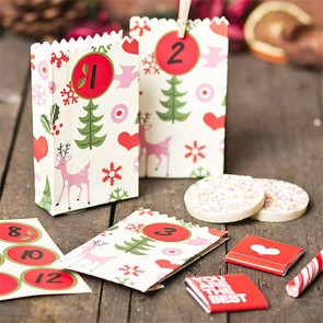 Advent Calendar Gift Bags with Deers