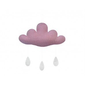 Cloud with Drops in Dusty Pink