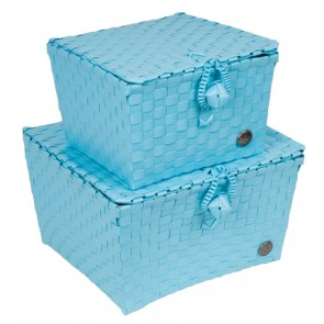 A Set of 2 Pisa Baskets in Dream Blue