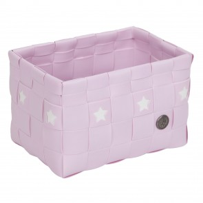 Powder Pink Toledo Basket with Stars