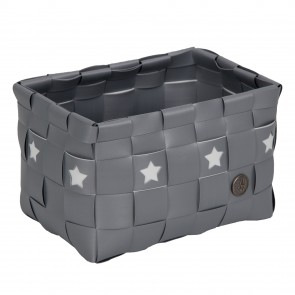 Silver Toledo Basket with Stars