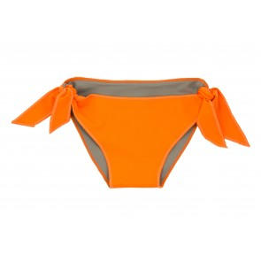 Baby Girl Bikini Bottoms in Orange & Sand