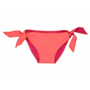 Baby Girl Bikini Bottoms in Salmon & Fuchsia