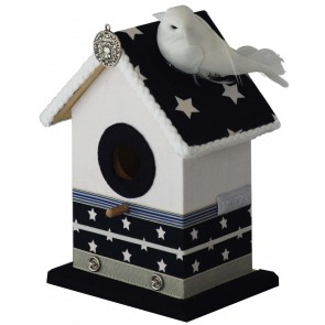 Cool Birdhouse Blue Stars