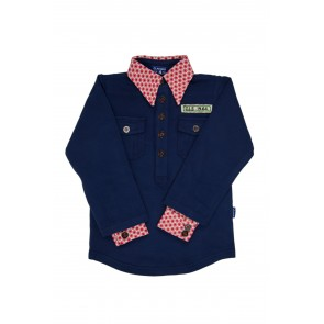 Navy Blue Boys Blouse T-Shirt