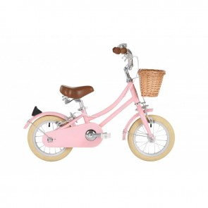 "Bobbin Gingersnap 12"" Pedal Bike Pastel Pink (3-4 years)"
