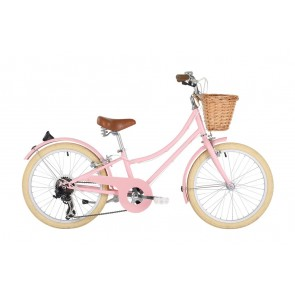 "Bobbin Gingersnap 20"" Pedal Bike Pastel Pink (7-9 years)"