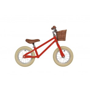"Bobbin Moonbug 12"" Balance Bike Gloss Red"