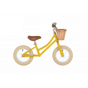 "Bobbin Gingersnap 12"" Balance Bike Yellow"