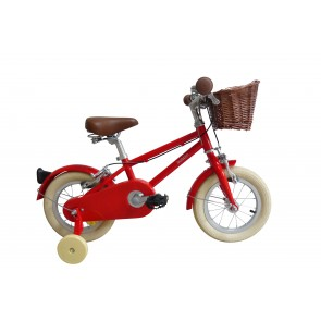 "Bobbin Moonbug 12"" Pedal Bike Red (3-4 years)"