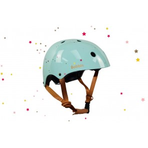 Starling Bike Helmet Bobbin - Mint Green with Multistars