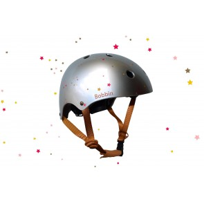 Starling Bike Helmet Bobbin - Silver with Multi Stars