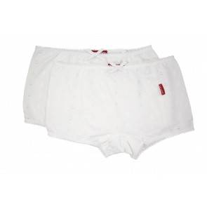 A Set of 2 Embroidered Boxer Shorts in White
