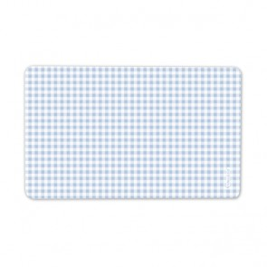 Breakfast Plate with Blue Squares