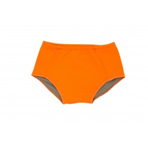 Baby Girl Swim Bottoms in Orange & Sand