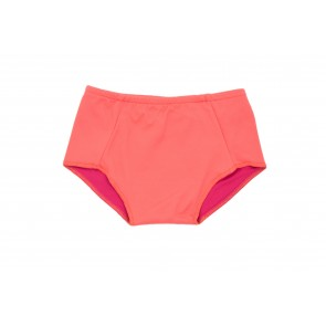 Baby Girl Swim Bottoms in Salmon & Fuchsia