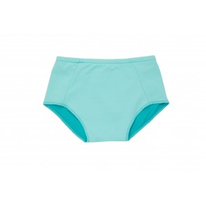 Baby Girl Swim Bottoms in Water & Turquoise