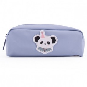 Pencil Case Circus Panda in Pastel Blue