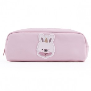Pencil Case Circus Bunny in Pastel Pink