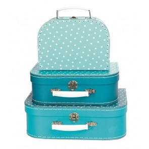 Set of 3 Petrol Star Suitcases