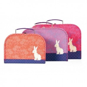 Set of 3 Bunny Suitcases