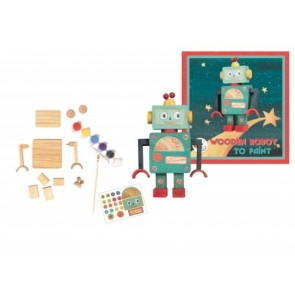 Wooden Robot to Paint