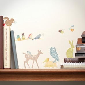 Mini Earthy Forest Animals Wall Sticker