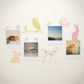 Mini Girly Forest Animals Wall Sticker