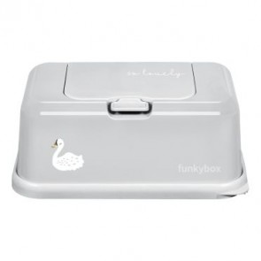 FunkyBox Wipe Dispenser Ash Grey with Swan