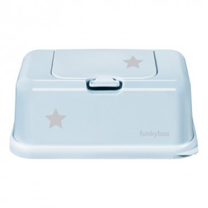 FunkyBox Wipe Dispenser Pale Blue with Little Star